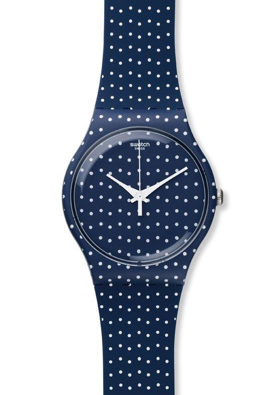 La montre à pois de Swatch http://www.vogue.fr/joaillerie/le-bijou-du-jour/diaporama/la-montre-a-pois-for-the-love-of-k-de-swatch/17099