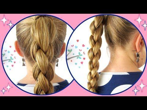 Haare schneiden mit 4 zopfen