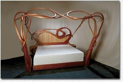 ❤ -art nouveau bed
