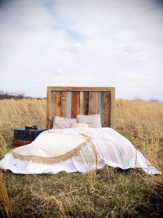 Rustic Barnwood Headboard Engagement Collection von ReBarnCHF