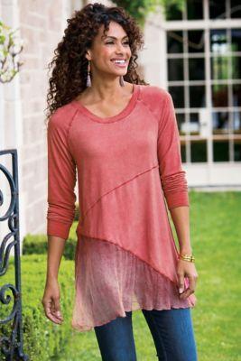 Silk Sienna Top - Asymmetrical Hem Top, Asymmetrical Top | Soft Surroundings