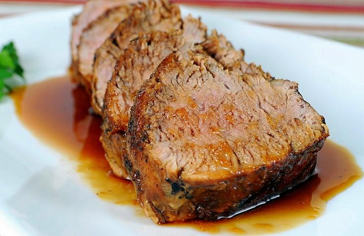 Lombo assado com mel de cana | Roast pork with honey