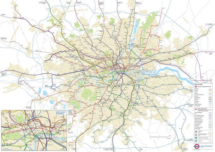 Un plan géographique officiel du métro de Londres - La boite verte