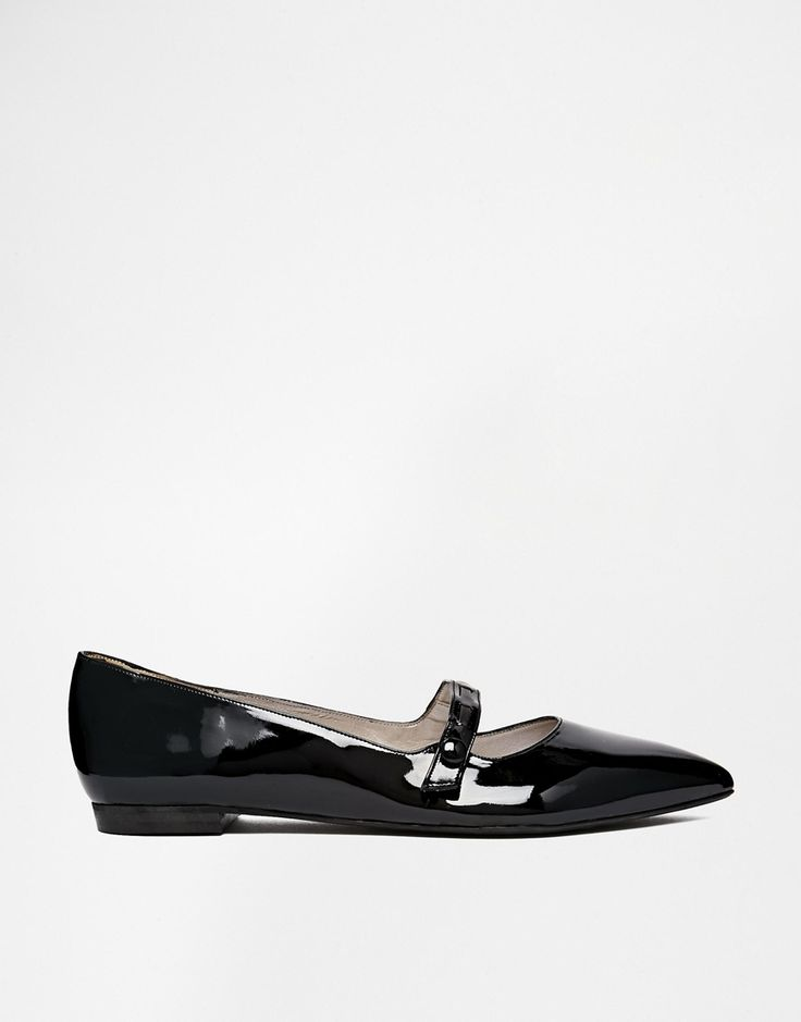 Shoesissima Dorothy Black Mary Jane Flat Shoes 'Available from UK 8-12'