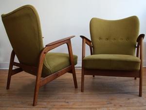 Finn Juhl Style Lounge Chairs