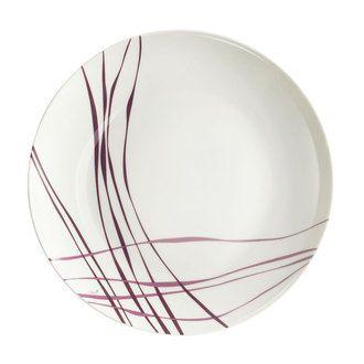 Assiette plate en porcelaine - 27 cm - Lot de 6 LIANE