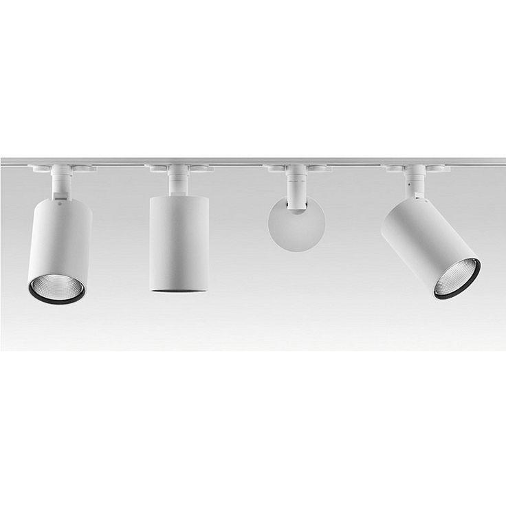 LED Stromschienenstrahler silber 19W 4000K UGR<19, dimmbar - Rasterleuchten - Einbaustrahler