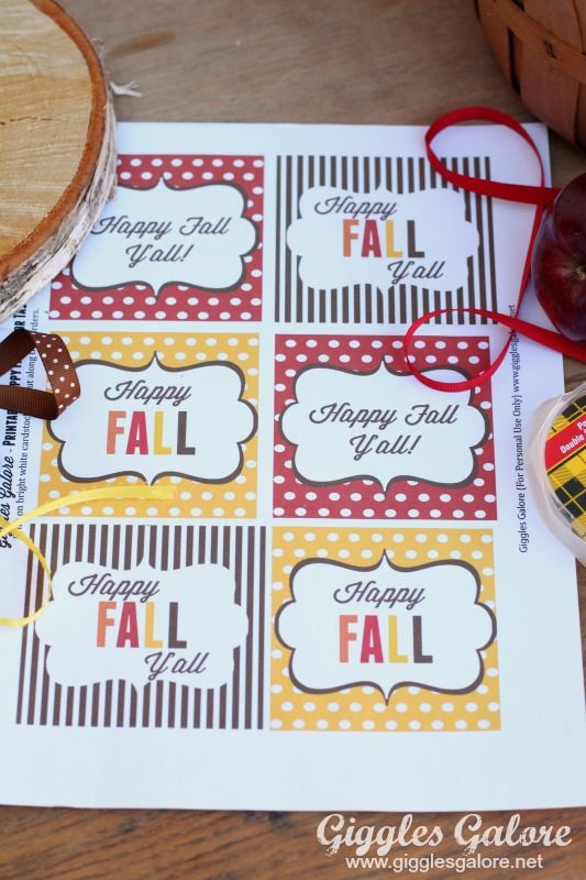Caramel Apples and Happy Fall Y�all Printable