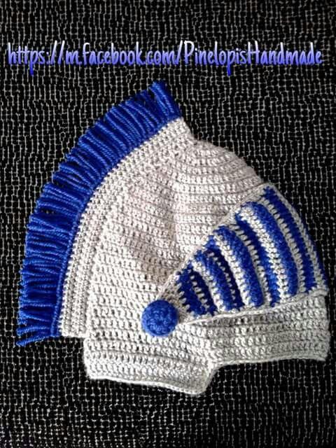 Crochet Greek helmet!  https://m.facebook.com/PinelopisHandmade/