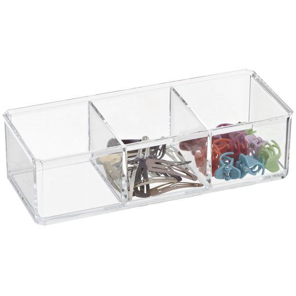 Acrylic Edge Stackable Boxes. Office BathroomStorage ...