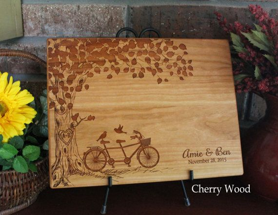 Personalized Cutting Board Tandem Bike by EngrainedMemories