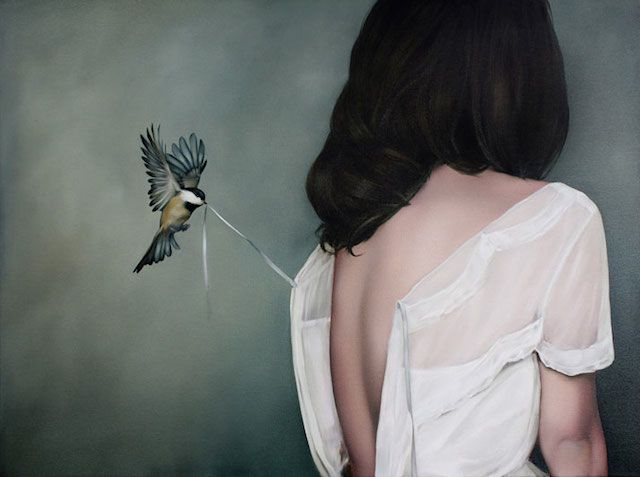 De schoonheid van vrouwen en vogels