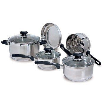 Cookware - Pots & Pans, Frypans, Woks - Briscoes - Zip Elegance 5 piece Cookware Set $70 on special