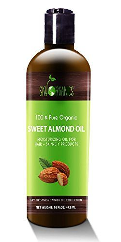 Finest Candy Almond Oil by Sky Organics 16oz- 100% Pure, Chilly-Pressed, Natural Almond Oil. Nice As Child Oil- Anti- Wrinkles- Anti-Growing old. Almond Oil- Service Oil for Therapeutic massage.Tub Pearl & Flakes
