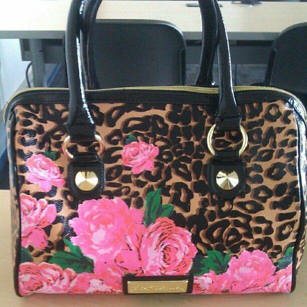 Betsey Johnson bag #leopard #pink