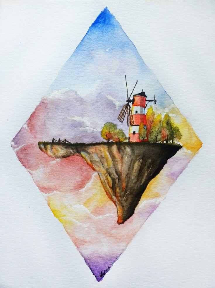 Gorillaz. Windmill, windmill for the land by chazey-art.deviantart.com
