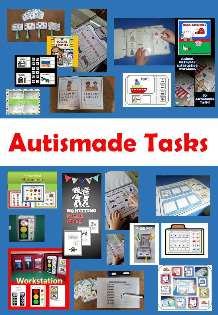"""Autismade Tasks, Cool Classroom"", adapted resources for  Autism, Special needs…"