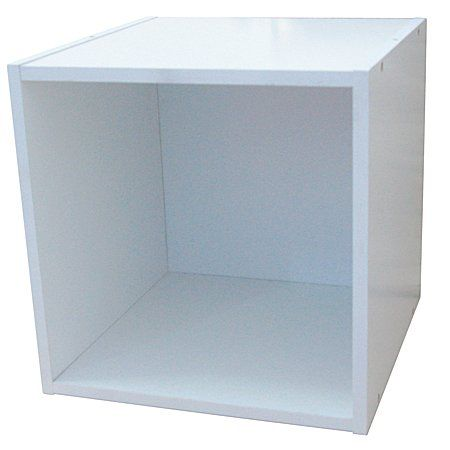 Hampton Wooden Storage Cube White 40cm Furniture Fittings Home Office Homewares The