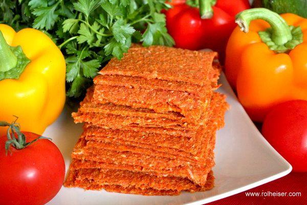 Сыроедческие Хлебцы из Помидора, Болгарского Перца и Моркови