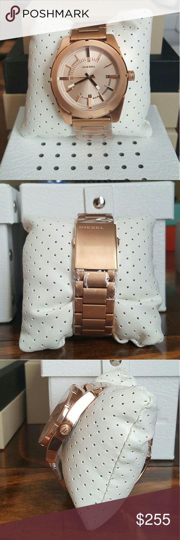 NWT Diesel ROSE Gold Tone Unisex watch NWT Diesel (UNISEX) rose gold dial stainless steel? watch  Firm Price $255.00 . AUTHENTIC WATCH . AUTHENTIC BOX . AUTHENTIC MANUAL  SHIPPING Please allow few days for me to shipped it off.i have to get it from my store.  Thank you for your understanding. diesel Accessories Watches