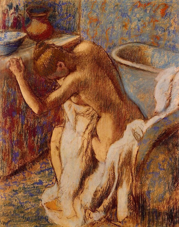 Woman Drying Herself, Edgar Degas  c. 1898