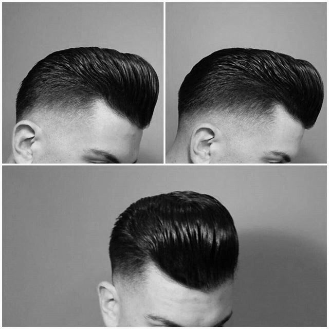 "mrpomade: "" A #barber shout out @alvaro_the_barberfor a great cut and styling #pompadour #fade #slick #mensstyle #spain """