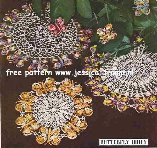 Free Crochet Patterns For Butterfly Doilies : Butterfly doily free vintage crochet doilies patterns ...