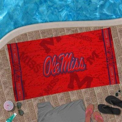 McArthur Ole Miss Rebels 30'' x 60'' Cardinal Red Beach Towel