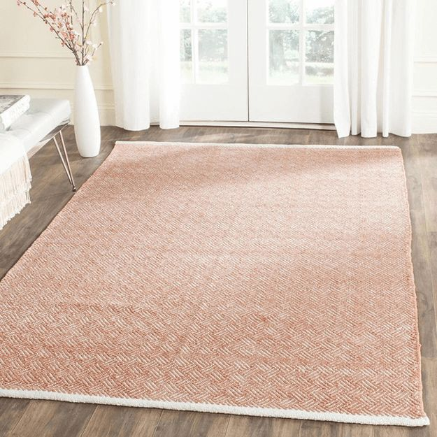 dusty peach area rug, pantone pale dogwood, blush peach