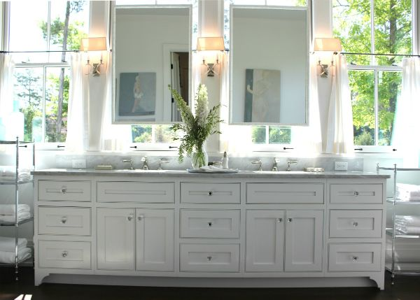Bathroom Mirror In Front Of Window 122 best images about master bath on pinterest | vanity mirrors
