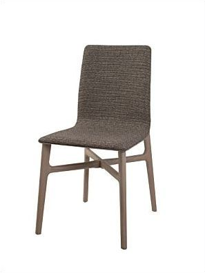 chair wooden upholstered stackable axis perrouin siges