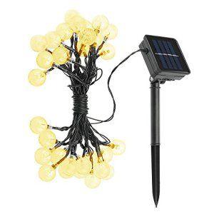 30 LED 6.35M Guirlandes Lumineuse solaire Étanche Topop Chaine de lampesWaterproof, Lampe solaire jardin d'ambiance Pour Noël,Decoration…
