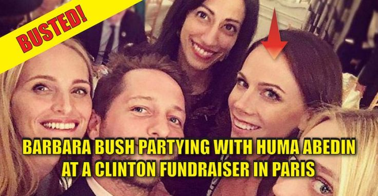VIRAL PHOTO : George W. Bush's Daughter Barbara is BUSTED PARTYING with Huma Abedin at Clinton Fundraiser (10/2/16)