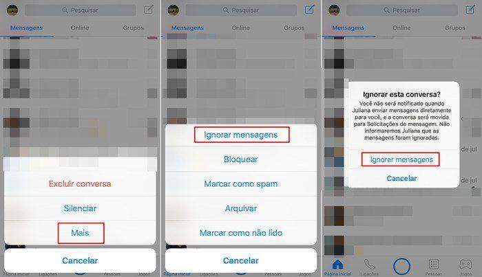 Saiba ignorar mensagens de alguém no Facebook Messenger