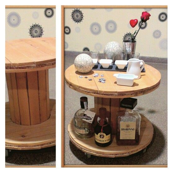 17 best images about carretes de madera on pinterest for Mini bar de madera