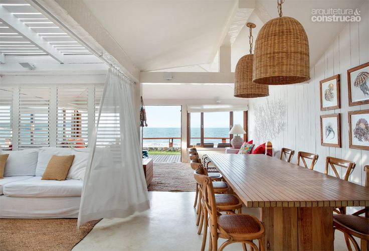 Chilled beach house lounge and dining area