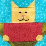 Many cat quilt patterns - Watermelon Cat Foundation Paper Pieced Quilt Block Pattern - Quilting