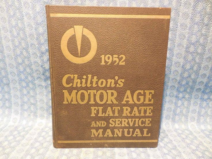 1940-1952 Chiltons Service, Parts & Flat Rate Manual GM Ford Mopar Kaiser Hudson #Chiltons