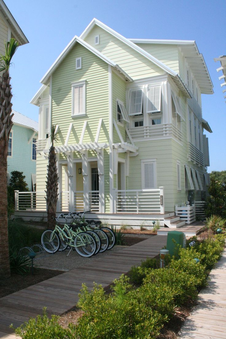 Summer living at its finest: This home we designed in Watercolor, Florida and sits right on the Gulf of Mexico.