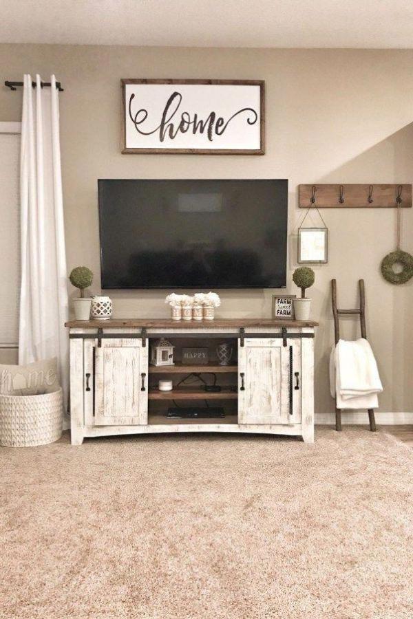 Beautiful Rustic Farmhouse Living Room Decor Ideas 16 In 2020 Living Room Tv Stand Living Room Remodel Farm House Living Room