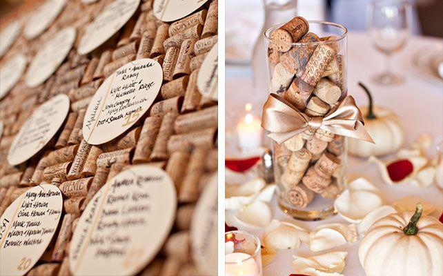 Свадебные тренды: винный декор