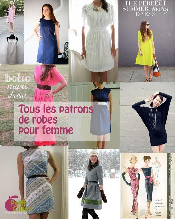 La liste de tous les patrons & DIY de robes pour femme…