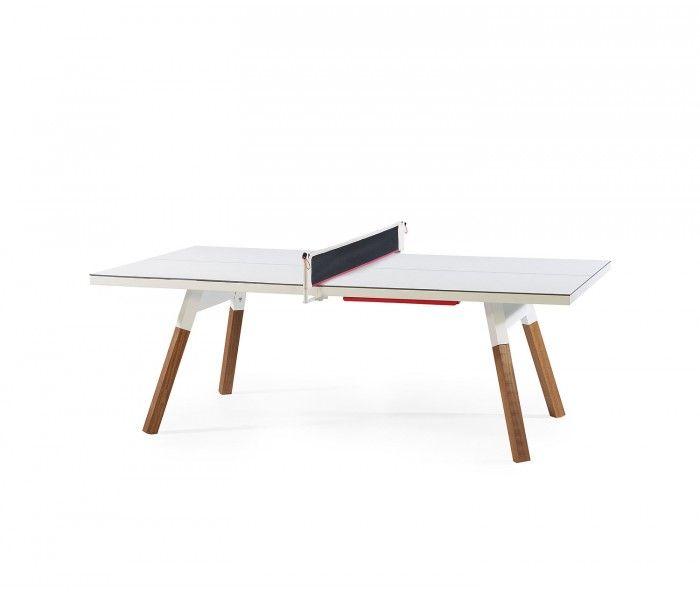 RS Barcelona Ping Pong Tischtennisplatte Esstisch-220x120 weiß