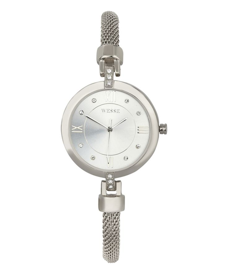 Take a look at this Crystal & Silvertone Thin Mesh Bracelet Watch - Women today!