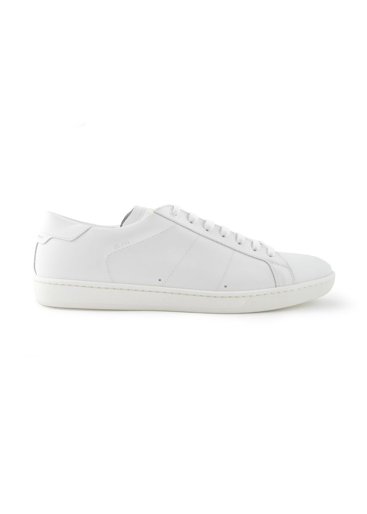 Saint Laurent Paris - Spring Summer 2015 - Menswear // White Leather Sneakers