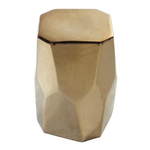 Hocker aus Keramik vergoldet H 45 cm DIAMANT