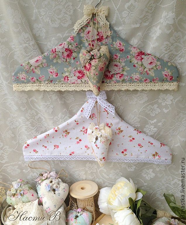 Perchas con fundas   -   Shabby Chic clothes hangers