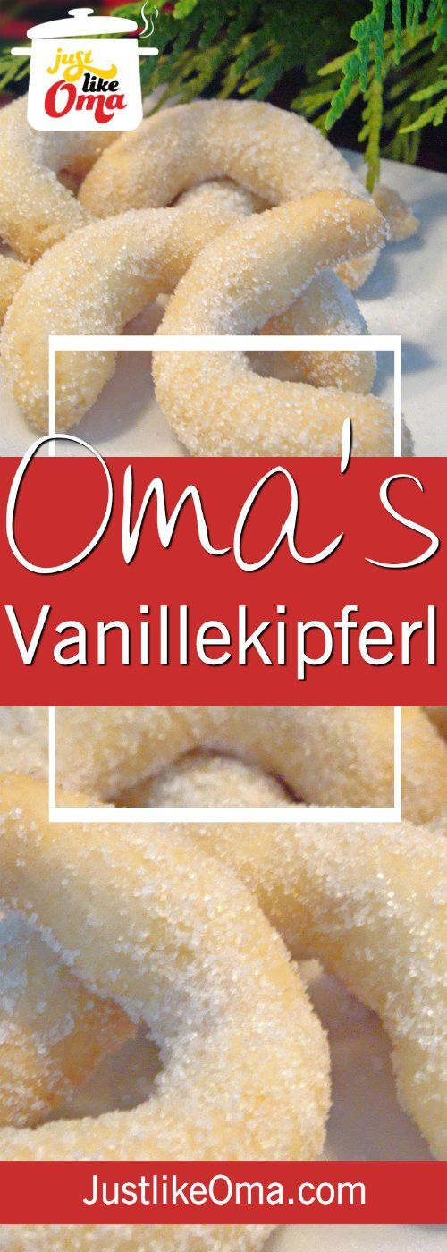 Vanillekipferl are an almond cookie which is very similar to a shortbread cookie, but made with ground almonds. Traditional for a German Christmas, it tastes great all year long. WUNDERBAR!