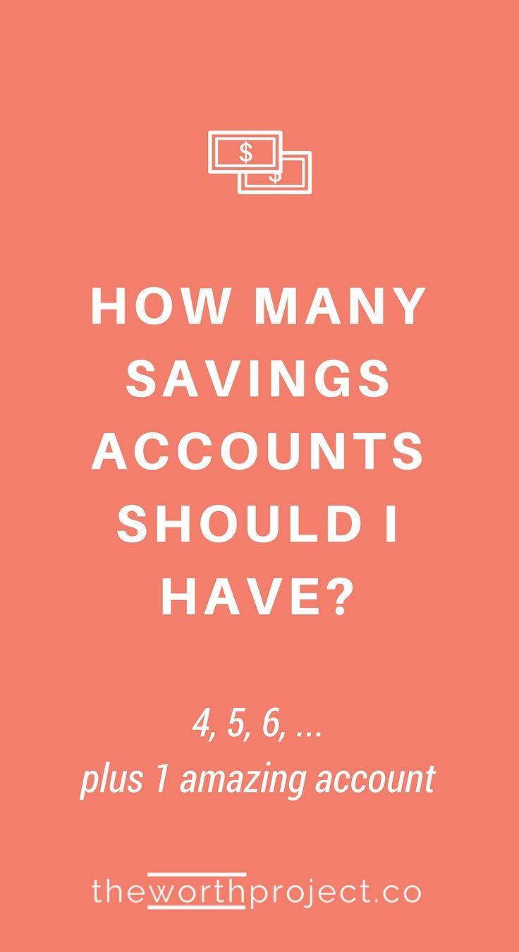 how many savings accounts should i have | money saving tips