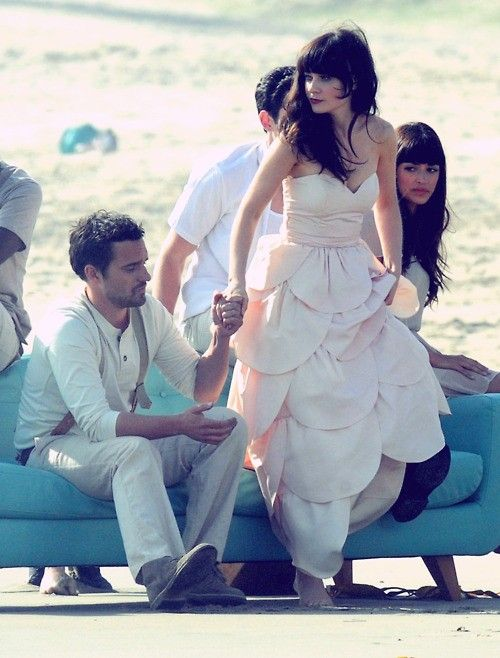 Jake Johnson + Zooey Deschanel
